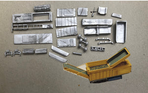 M74 (3) Industrial shredder / crusher on semi trailer - N GAUGE -