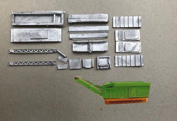 M79 (3) Log shredder / chipper on static frame - N GAUGE -
