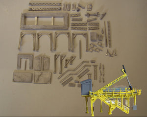 M9 (4) Bulk container tipping frame - N GAUGE -
