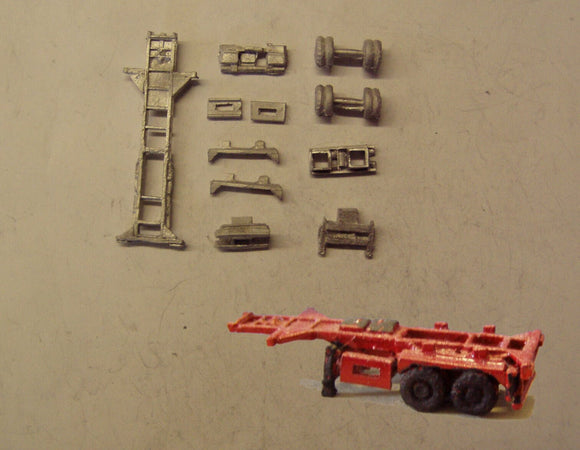 MV221 (3) 20ft skeletal trailer - triple pack - N GAUGE -