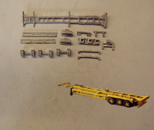 MV245 (3) 45ft skeletal trailer - single - N GAUGE -