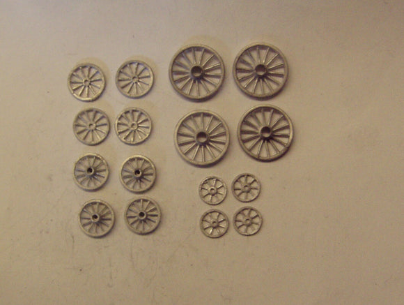 PW108 (1) Wheels (16@ various sizes) - OO GAUGE -