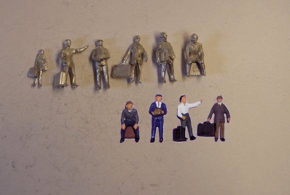 PW117 (1) People with luggage (6) - OO GAUGE -