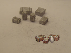 PW123 (1) Barrels and boxes - OO GAUGE -