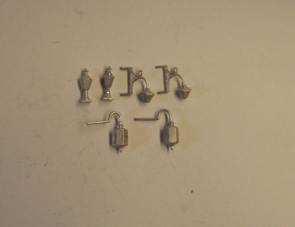 PW126 (1) Wall lamps ( 3 types 2 of each)