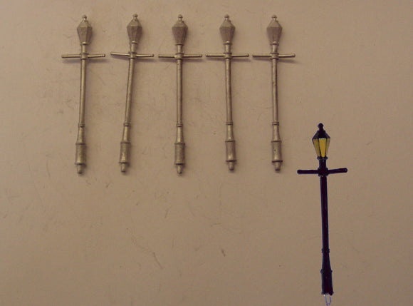 PW128 (1) Small head gas lamps (5) - OO GAUGE -