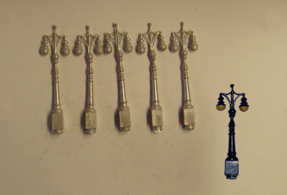 PW131 (1) Ornate double headed electric lamps (5) - OO GAUGE -