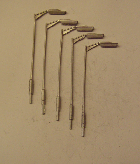 PW142 (1) Tubular street lamps single headed (5) - OO GAUGE -