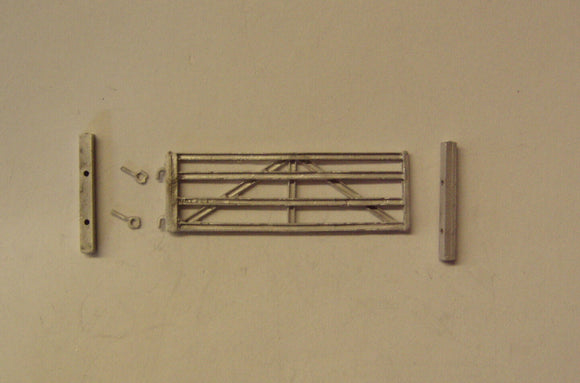 PW174 (3) Large 4 bar metal U section gate (45mm wide) - OO GAUGE -