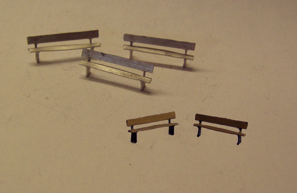 PW210 (1) Short park benches/platform seats - OO GAUGE -