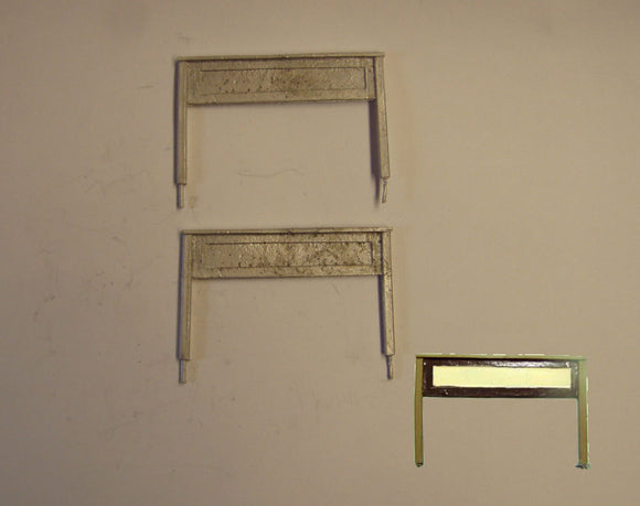 PW265 (1) LSWR station nameboards (2) - OO GAUGE -