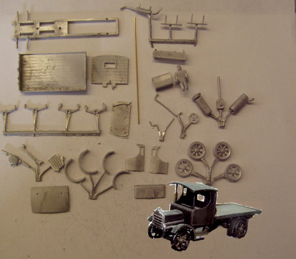 PW51 (4) Daimler flatbed lorry (intro 1911) - OO GAUGE -
