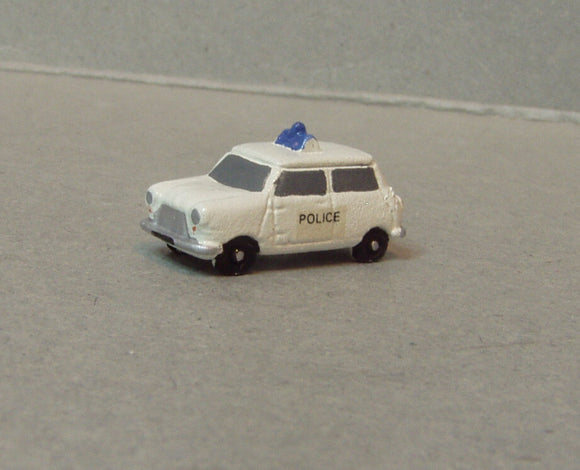 X10p Austin Mini Police Car (intro 1960) - N GAUGE -