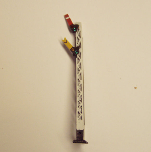 X322 LMS lattice post home and distant signal with jewels - N GAUGE -