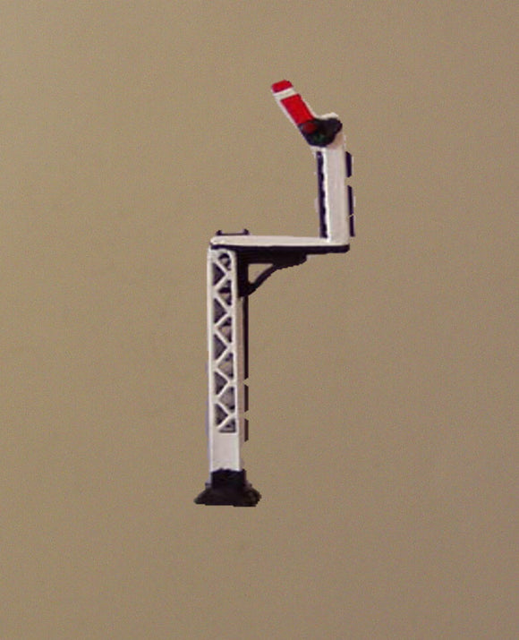 X323 LMS lattice post home on bracket signal with jewels - N GAUGE -