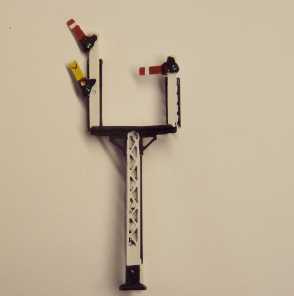 X324R LMS lattice post right hand junction signal with jewels - N GAUGE -