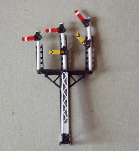 X325 LMS lattice post triple arm signal with jewels - N GAUGE -