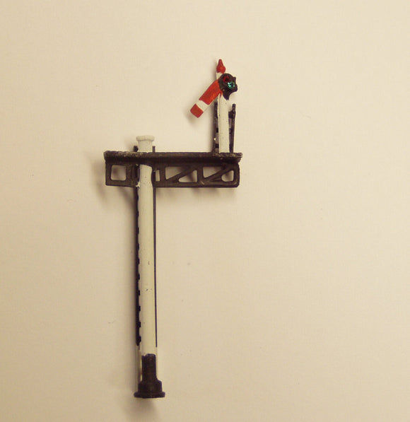 X353 GWR/BR metal post home on bracket signal with jewels - N GAUGE -
