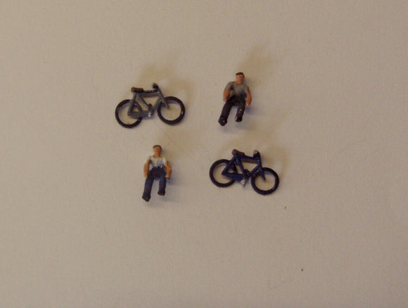X51 Cyclists (2) - N GAUGE -
