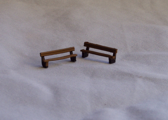 X80 Benches (4) - N GAUGE -