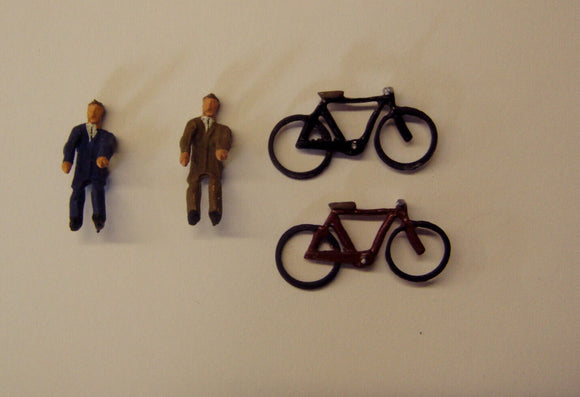 Z08 Bikes and Cyclists (2) - OO GAUGE -