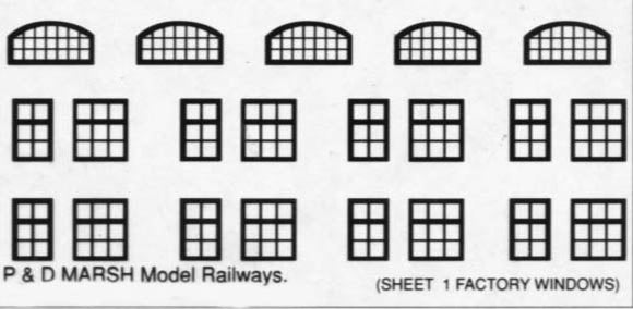 B581 (1) 63 factory style windows (3 types)