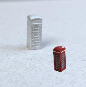 C65 (1) K6 Telephone Box (intro 1935) - N GAUGE -