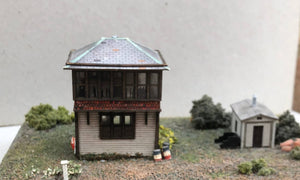 KSBN (4) Kingsport Signal Box - N GAUGE -