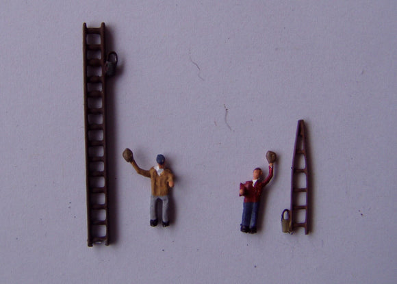 X67 Window cleaners & ladders (2) - N GAUGE -