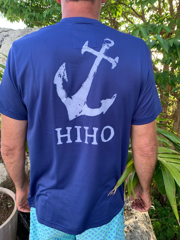 short sleeve upf50 shirt with anchor graphic