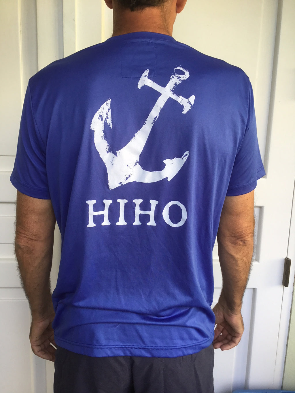 Short Sleeve HIHO Anchor UPF50 Shirt - Dazzling Blue