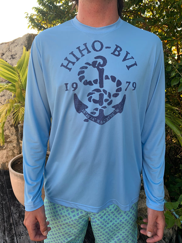 anchor graphic on a upf50 shirt