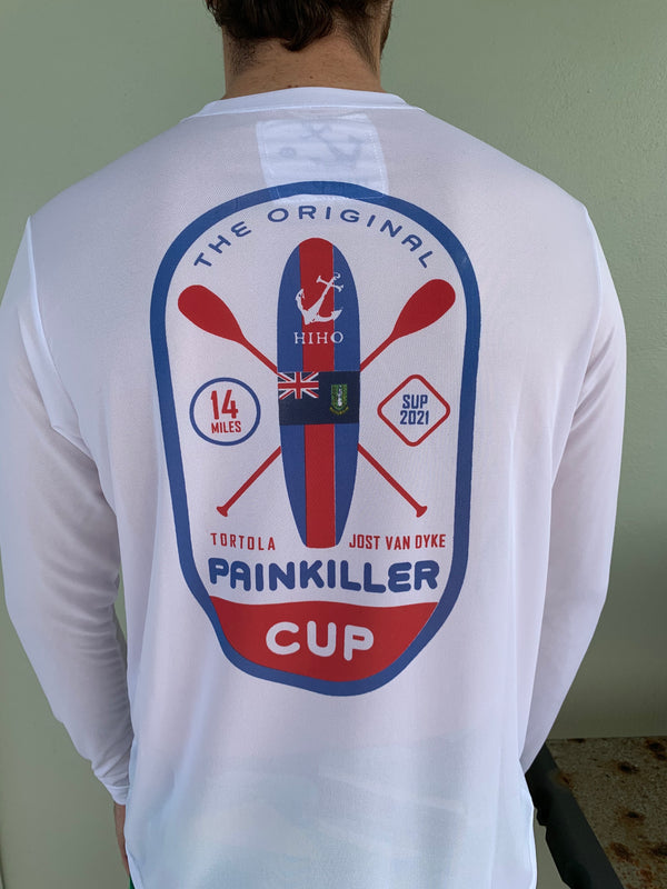 Long Sleeve 2021 Painkiller Cup UPF50 Shirt - White