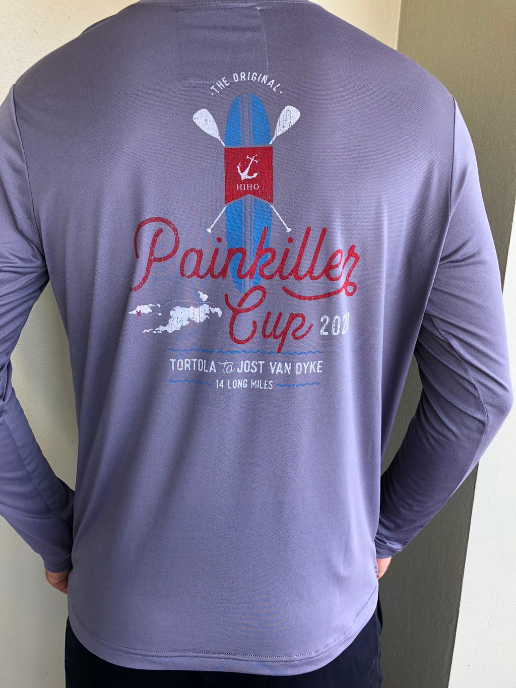 Long Sleeve 2020 Painkiller Cup Suntek Shirt - Blue Granite