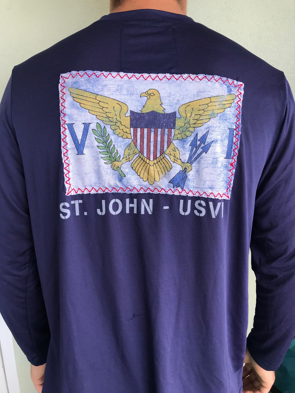 us virgin islands flag sewn as a patch with St John text