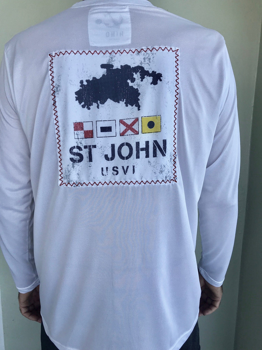 st john virgin islands UPF50 shirt with nautical flags