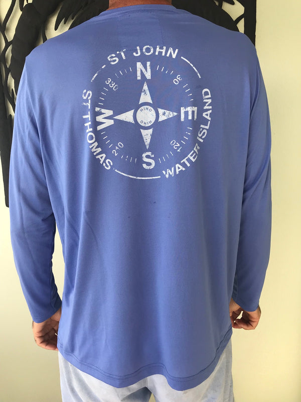 Virgin Islands compass graphic sun protection shirt