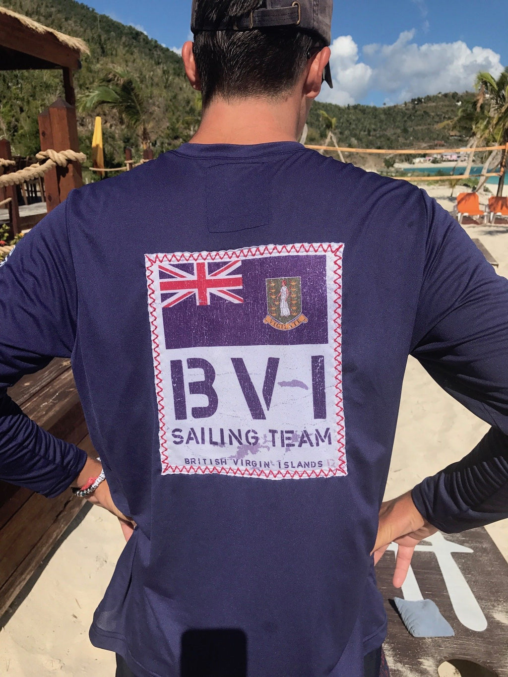 Long Sleeve BVI Sailing Team UPF50 Shirt - Patriot Blue