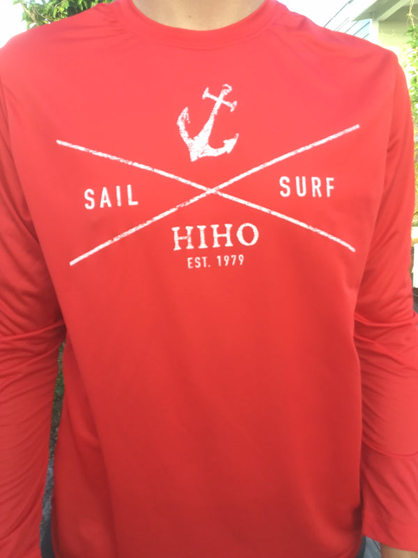 L/S Surf & Sail Suntek - red