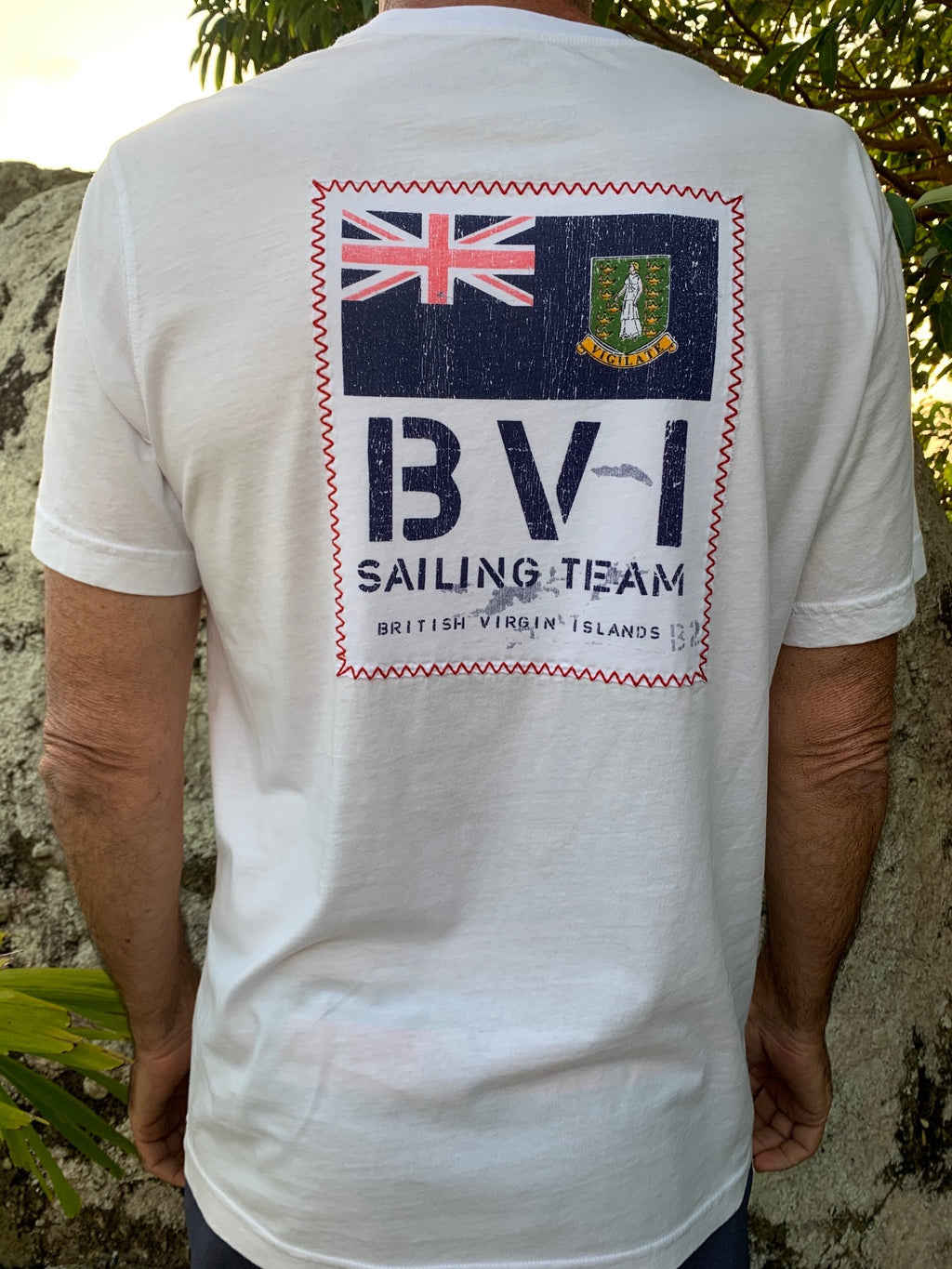 Short Sleeve BVI Sailing Team - White