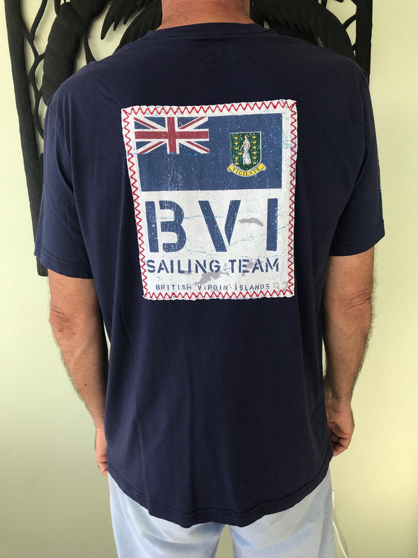 Short Sleeve BVI Sailing Team T-shirt - Patriot Blue
