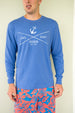 Long Sleeve Sail & Surf T-shirt - Barbuda Blue