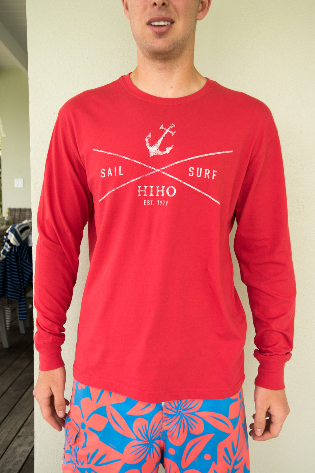 Long Sleeve Sail & Surf T-shirt - Red