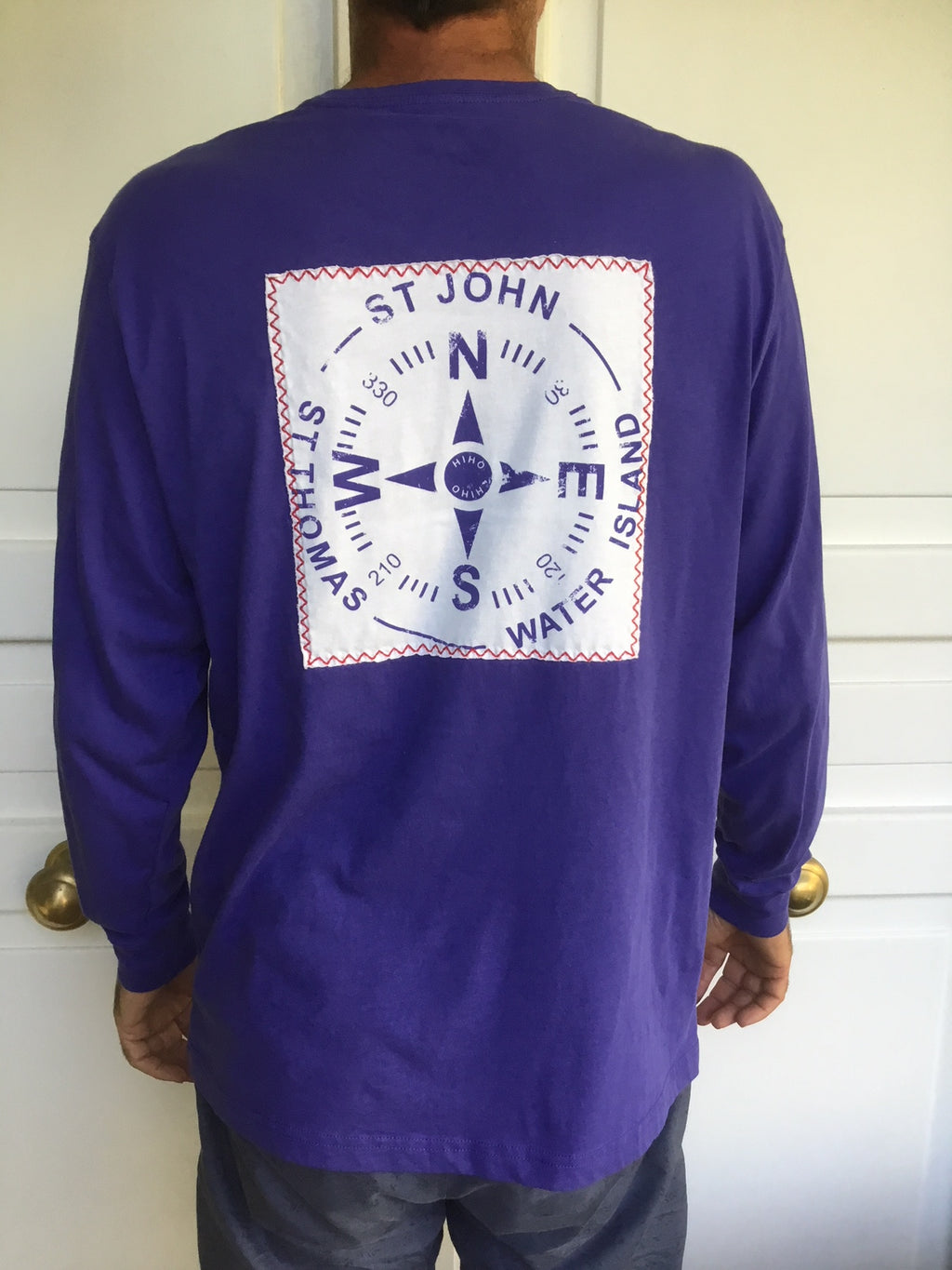 Long Sleeve VI Compass Patch T-shirt - Spectrum Blue