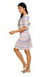 Sandy Cay Dress - Sunset Stripe