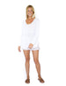 Gracie V-Neck Sweater - White