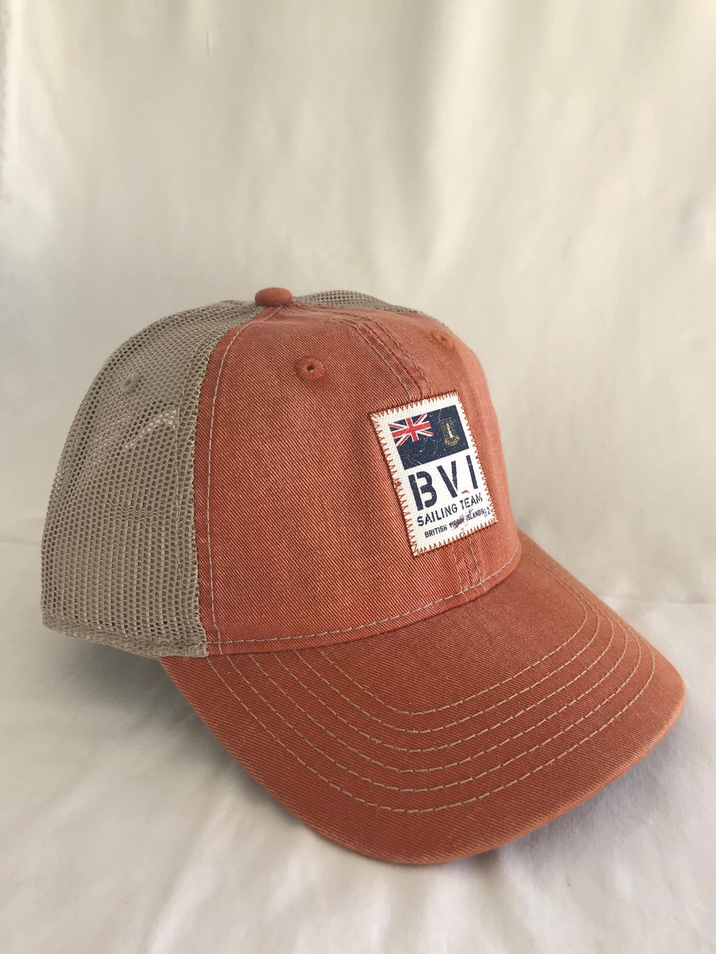 BVI Sailing Team Trucker Cap - Rust