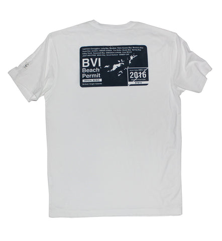 BVI Beach Permit - White