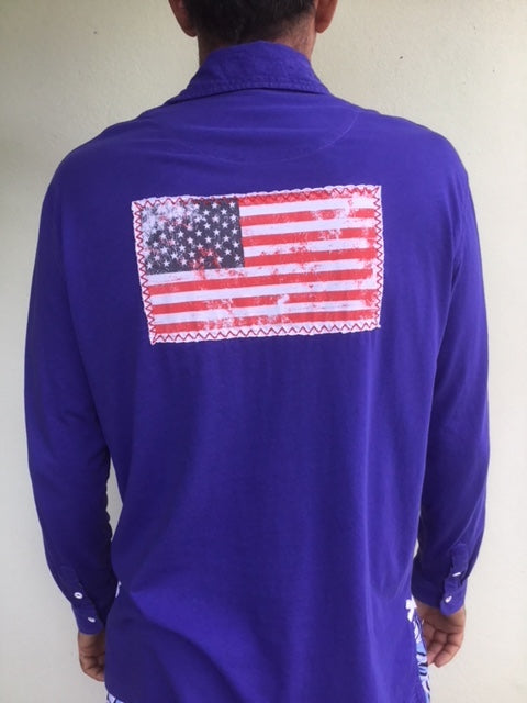 CST USA Flag Patch Shirt - Spectrum Blue