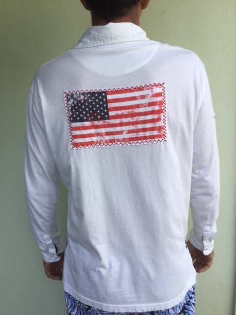 CST USA Flag Patch Shirt - White